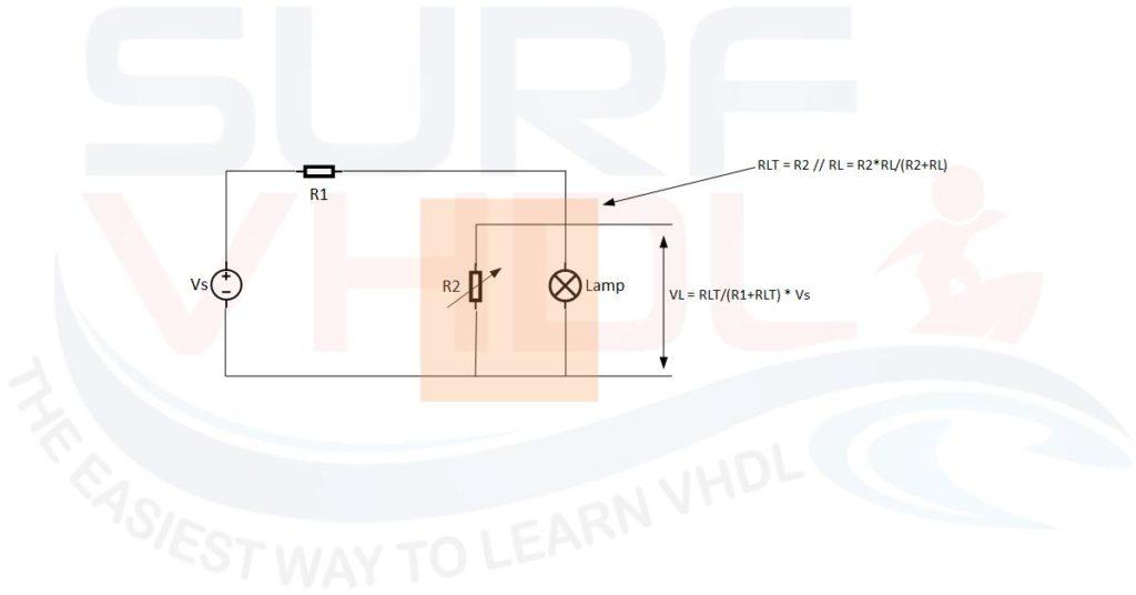 Figure2 - Lamp dimmer using variable resistor